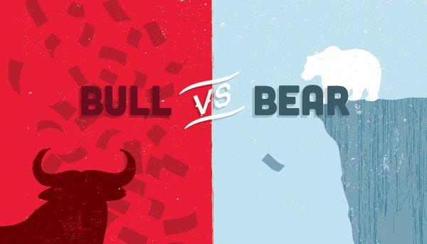Stock Market Bull vs Bear Graphic