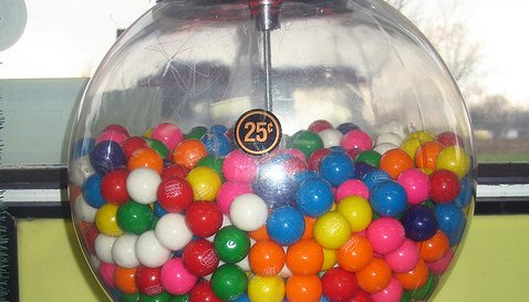 Bubble Gum in a Bubble Gum Machine