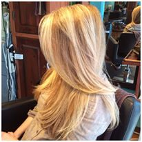 Blonde Woman at Hair Salon
