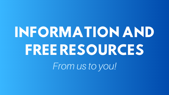 "Graphic that Reads ""Information and Free Resources from Us to You"""